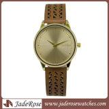 Montre de quartz de Hotselling, Madame Alloy Wristwatch, montre de mode de cuir véritable