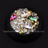 크리스마스 훈장 못 예술 Multi-Size 핑거 못 수정같은 모조 다이아몬드 Setsharp 혼합 색깔 복장 매니큐어를 위한 밑바닥 못 예술 DIY