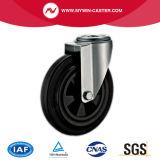 6 Zoll-Schwenker-Plastikkern-Gummieuropa-Typ industrielle Fußrollen