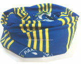 Le produit d'usine de la Chine a personnalisé le polyester bleu Tubies magique Headwear d'impression de logo