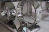 Logotipo Benz moderno em aço inoxidável superior em vidro temperado, mesa de jantar