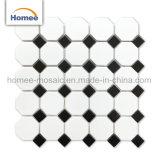 Diversos diseños de lujo de cerámica de cocina Octagon Octagon mosaico con puntos negros