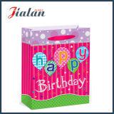"""Sellado caliente del """" feliz cumpleaños """" y bolsa de papel del regalo del portador de las flores que hace compras"""
