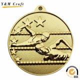 De Medailles van het Metaal van de Toekenning van de Sporten van de douane met Lint (M003)