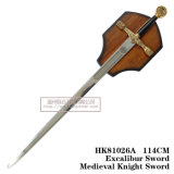 Espadas da decoração do rei Arthur Espada Medieval Espada 114cm HK81026A