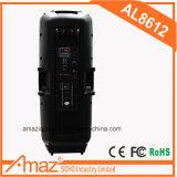 dubbele Spreker 12 '' met Zure Batterij/Kaart Bluetooth/USB/SD/TF/de Uitzending van de Stem/Mic Hefboom/de Hefboom van de Gitaar