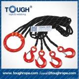 A corda Offroad sintética da corda UHMWPE do guincho da mão adverte a corda do guincho