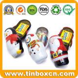 Mini pequeno dom Metal Latas de Natal para Candy Caixa de Armazenamento