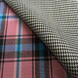 El poliester de las lanas del tartán mezcló la tela del juego, tela del juego de las lanas, tela de la adaptación de la verificación del tartán