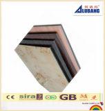 Utilisation composée en aluminium de panneau d'enduit de PVDF pour la décoration de revêtement de mur