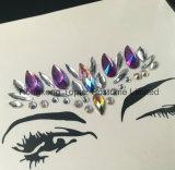Bling Glitter piel ojos Rhinestone temporal piedras de gema Bindi Joyas de la cara (J12).