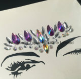 O GV certificou a etiqueta de cristal do diamante da gema acrílica adesiva da etiqueta da pele do olho do Glitter de Bling (S007)