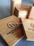 La aduana grabó el conjunto de madera cuadrado del práctico de costa de la insignia para la bebida del té del café