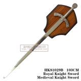 A decoração de espadas medievais espadas cruzadas espadas 103cm HK81029B