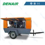 Горячая продажа 375 для тяжелого режима работы дизельного двигателя cfm портативный винтовой компрессор