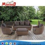 Im Freien Garten-Weidenrattan-Sofa-synthetische Rattan-Flechtweiden-Möbel