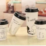 Крышки кофейных чашек Wholesae черные пластичные бумажные