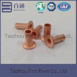 o cobre de 8X20mm chapeou o rebite de aço tubular cheio principal liso
