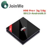 최고 상자 H96를 3G+16g Amlogic S912 인조 인간 6.0 Ott 텔레비젼 상자 플러스 직업이라고 놓으십시오