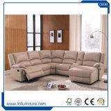 コンソールが付いている居間の家具のためのレトロ型のソファーの一定の革ソファー