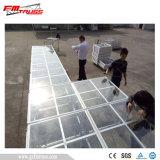 Installation facile de l'étape portable plate-forme de verre