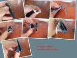 PVC/PP/PE/PC/ABS si è sporto rotaie dei tubi dei tubi di profilo