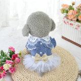 Perro Denim Chiffon falda, vestido de animales de compañía baratos