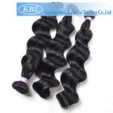 Cheveux noir de jais brésilien noir pur en stock