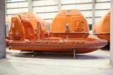 Bote de salvamento estándar de la velocidad rápida del gancho de leva de hombre del SOLAS GRP/FRP 6 solo