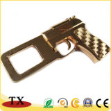 Kundenspezifische Goldpistole-Modell-Metallschlüsselkette für Andenken