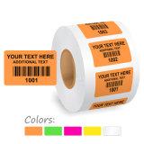 Escritura de la etiqueta de encargo de la etiqueta engomada de la impresión del precio bajo