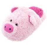솜털 모양 분홍색 돼지 슬리퍼 여자 단화