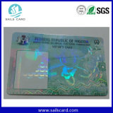 Anti-Falsificando o cartão da identificação do PVC do holograma de 3 D para a Anti-Falsificação