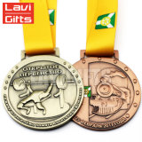 Preiswerte kundenspezifische Metallpreis-EBB-Sport-Medaille mit Farbband