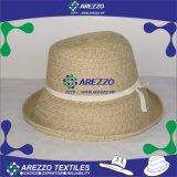 El verano de la mujer el papel de la cuchara sombrero de paja (AZ012B)