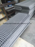 La banda de rodadura de la escalera de GRP, pasamanos de Glassfiber racores, tubos de plástico reforzado con fibra, sistemas de baranda.