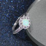 Anel de joalharia grossistas Fire Opal Moda jóias de prata