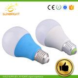 플라스틱 덮개 알루미늄 A60 7W E27 LED 글로벌 전구