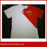 T-shirts de publicité bon marché blanc d'usine de la Chine avec propre logo (R82)