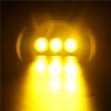 Simple rangée double lentille de couleur ambre blanc 30W 6pouce barre lumineuse à LED avec LED 10W