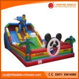 Китай надувных игрушек /прыжком упругие Castle Bouncer Пингвин слайд (T4-181)