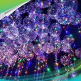 """18 """" 24 """" цветастых внезапных пузыря светящее СИД освещают вверх воздушные шары с шариком пузыря шнура светов прозрачным круглым для рождественской вечеринки"""