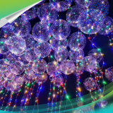 Lichtgevende LEIDEN van de Bel van de Flits van de Giften van de Partij van de valentijnskaart Licht op Ballons met Bal van de Bel van het Koord van Lichten de Transparante Ronde