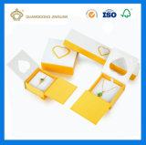 Rectángulo de joyería de papel del collar de la cartulina de la alta calidad (con la bandeja interna del terciopelo)