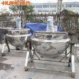 Inclinaison de la bouilloire à cuire revêtue de vapeur
