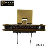 Blocage léger de bagage de poussée en métal de couleur d'or (8572-1)