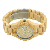 2018 personalizados de aseguramiento de calidad al por mayor de los hombres y mujeres de la madera de bambú Fabricante de Relojes de Pulsera