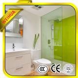 Porta de vidro de deslizamento interior do banheiro do vidro geado com dobradiça