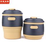 350ml personnalisés en silicone de qualité alimentaire tasse à café de Voyage