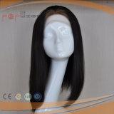Cabelo humano de pele branca Seda Top Mulheres Peruca (PPG-l-01511)